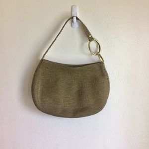 Eric Javits Shoulder Bronze Bag